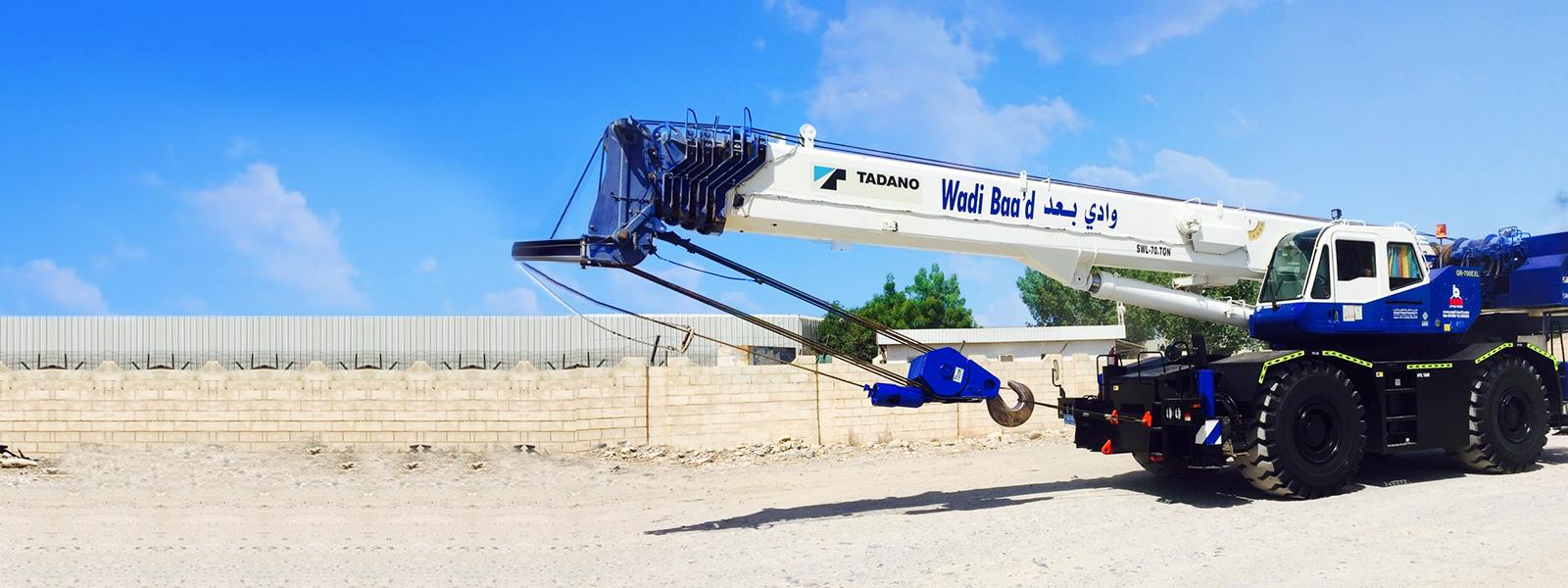 Crane Rental & Hiring Company Oman | Mobile Cranes, Rough