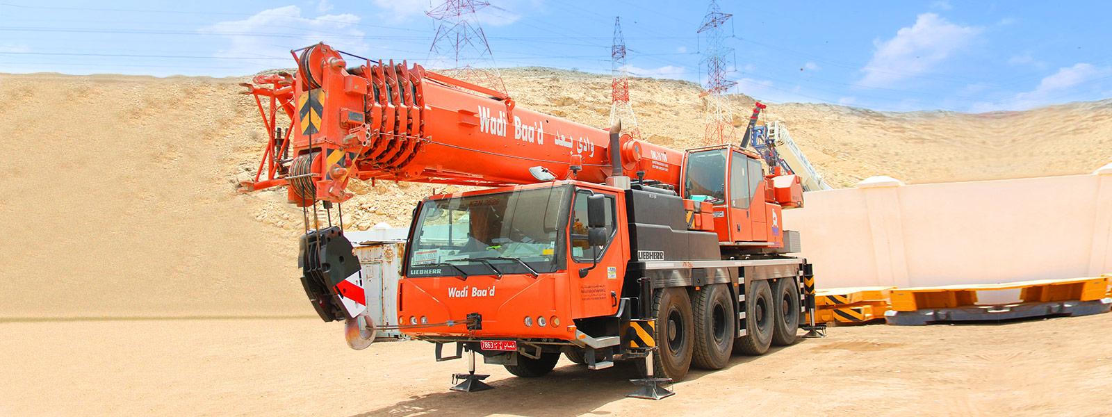 Crane Rental & Hiring Company Oman | Mobile Cranes, Rough Terrain